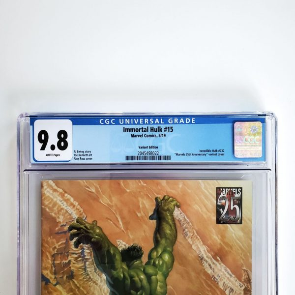 Immortal Hulk #15 CGC 9.8 NM/M Marvels 25th Anniversary Variant Front Label