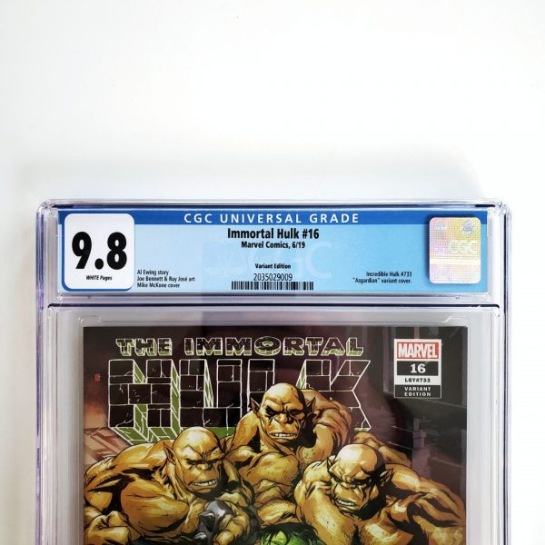 Immortal Hulk #16 CGC 9.8 NM/M Asgardian Variant Front Label