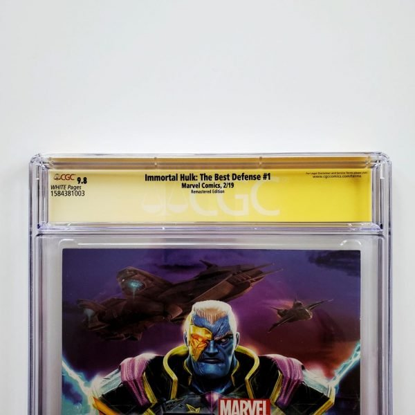 Immortal Hulk: The Best Defense #1 CGC SS 9.8 NM/M Kirby Remastered Variant Back Label