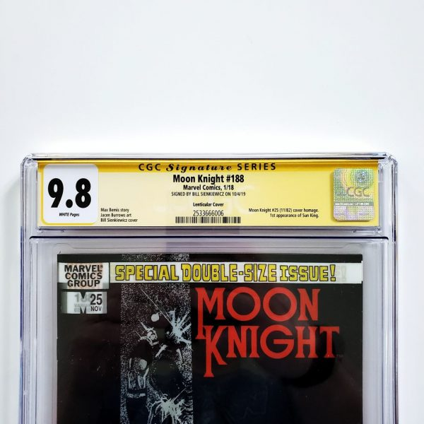 Moon Knight #188 CGC SS 9.8 NM/M Lenticular Variant Front Label