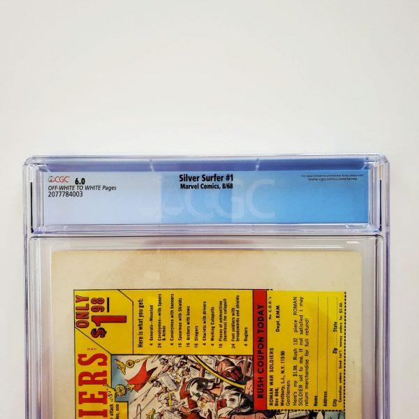 Silver Surfer #1 CGC 6.0 FN Back Label