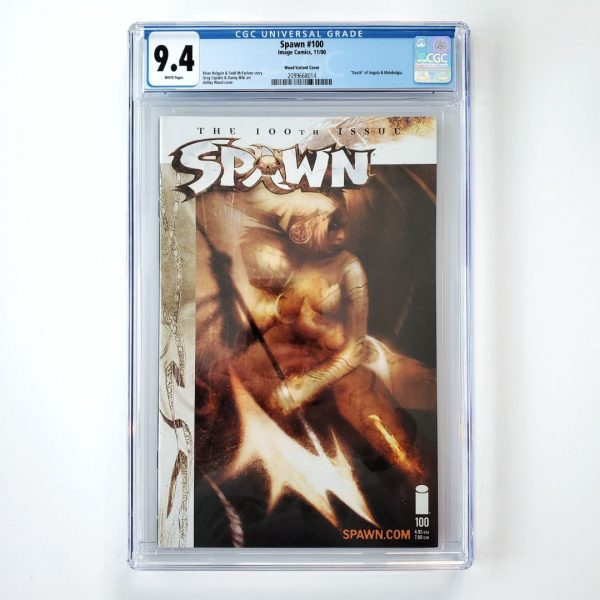 Spawn #100 CGC 9.4 NM Ashley Wood Variant Front