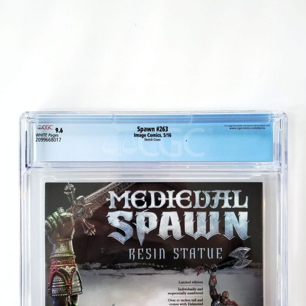 Spawn #263 CGC 9.6 NM+ Sketch Variant Back Label