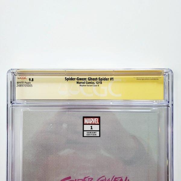 Spider-Gwen: Ghost Spider #1 CGC SS 9.8 NM/M Mayhew Variant B Back Label