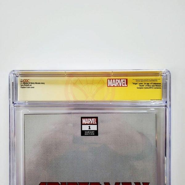 Spider-Man #1 CGC SS 9.8 NM/M Crain Convention Virgin Variant Back Label