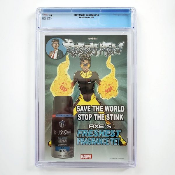 Tony Stark: Iron Man #14 CGC 9.8 NM/M Back