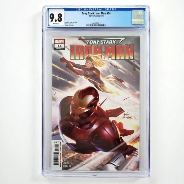 Tony Stark: Iron Man #14 CGC 9.8 NM/M Front