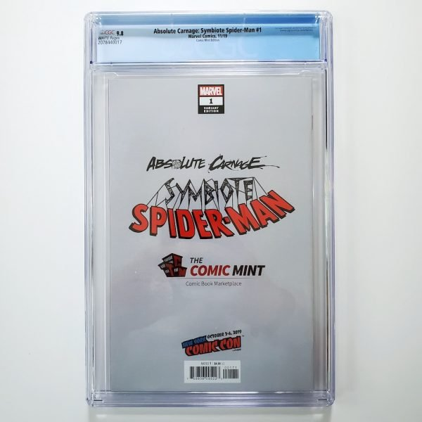Absolute Carnage: Symbiote Spider-Man #1 CGC 9.8 NM/M Comic Mint Variant Back