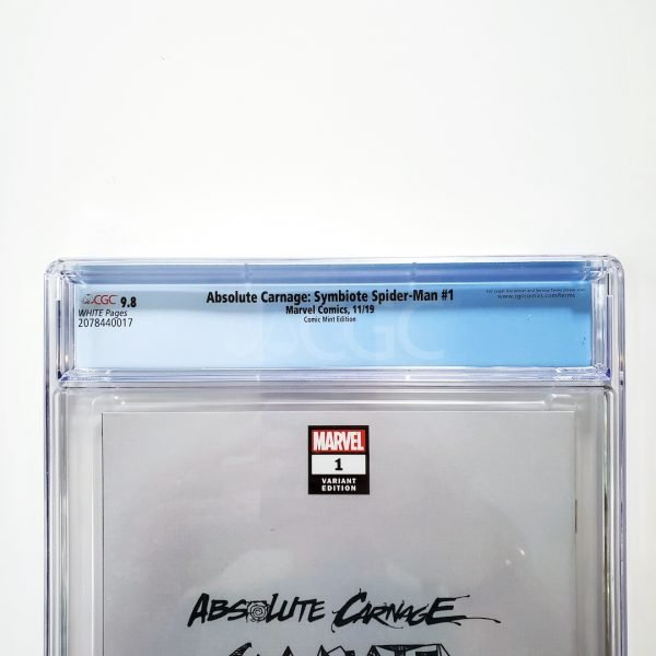 Absolute Carnage: Symbiote Spider-Man #1 CGC 9.8 NM/M Comic Mint Variant Back Label