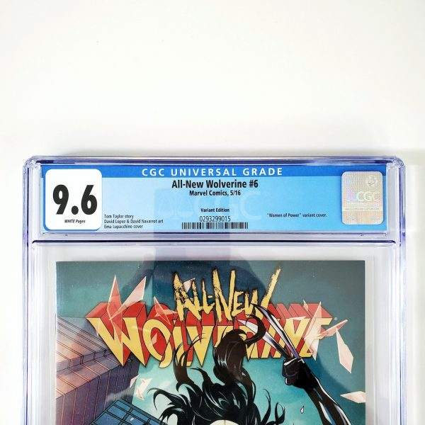 All-New Wolverine #6 CGC 9.6 NM+ Women of Power Variant Front Label