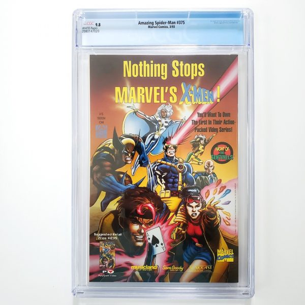 Amazing Spider-Man #375 CGC 9.8 NM/M Back