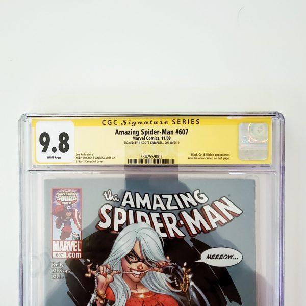 Amazing Spider-Man #607 CGC SS 9.8 NM/M Front Label