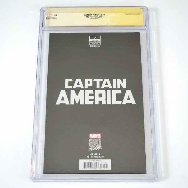 Captain America (2018) #7 CGC SS 9.8 NM/M Marvel 80th Anniversary Variant Back