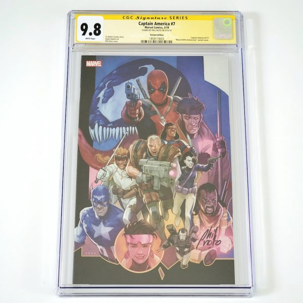 Captain America (2018) #7 CGC SS 9.8 NM/M Marvel 80th Anniversary Variant Front