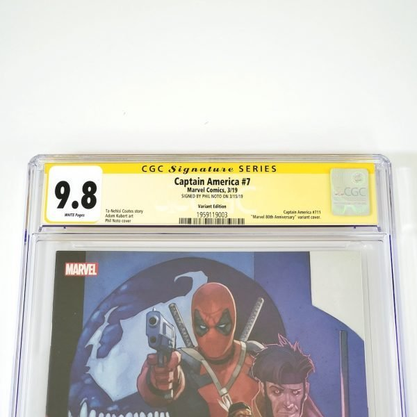 Captain America (2018) #7 CGC SS 9.8 NM/M Marvel 80th Anniversary Variant Front Label