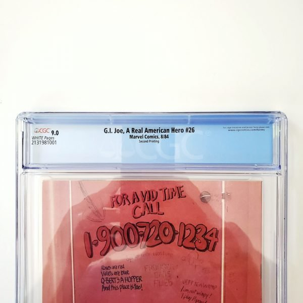 G.I. Joe, A Real American Hero #26 CGC 9.0 VF/NM Back Label