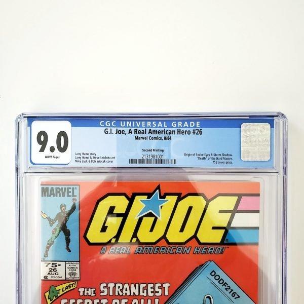 G.I. Joe, A Real American Hero #26 CGC 9.0 VF/NM Front Label