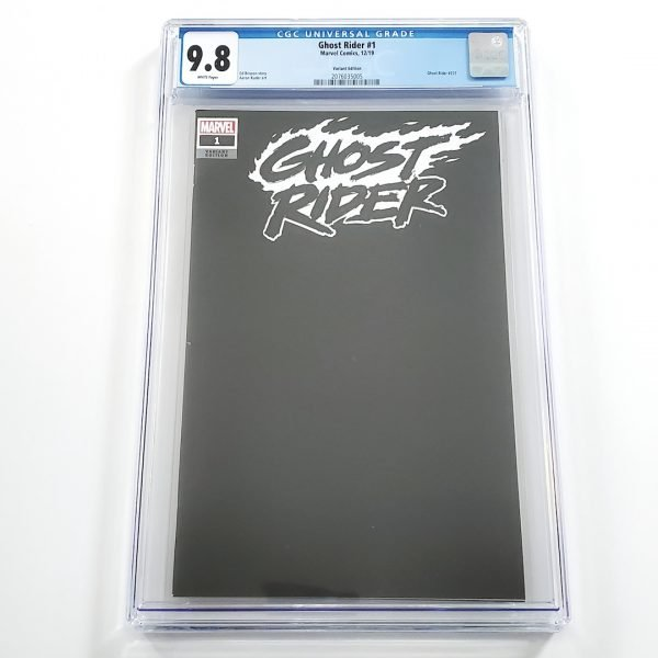 Ghost Rider (2019) #1 CGC 9.8 NM/M Blank Variant Front