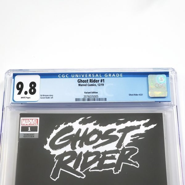 Ghost Rider (2019) #1 CGC 9.8 NM/M Blank Variant Front Label
