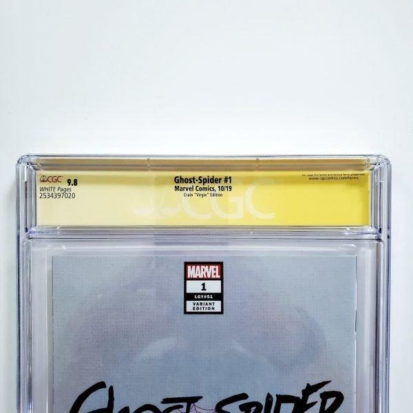 Ghost-Spider #1 CGC SS 9.8 NM/M Crain Virgin Variant Back Label