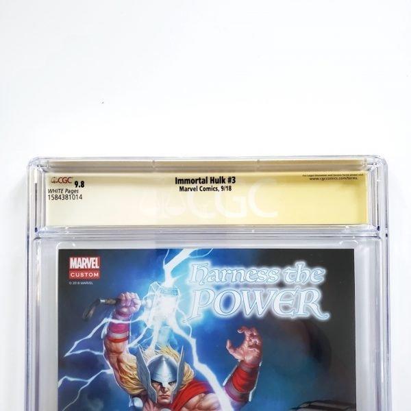 Immortal Hulk #3 CGC SS 9.8 NM/M Back Label