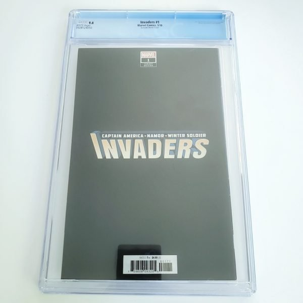 Invaders #1 CGC 9.4 NM Quesada Sketch Variant Back