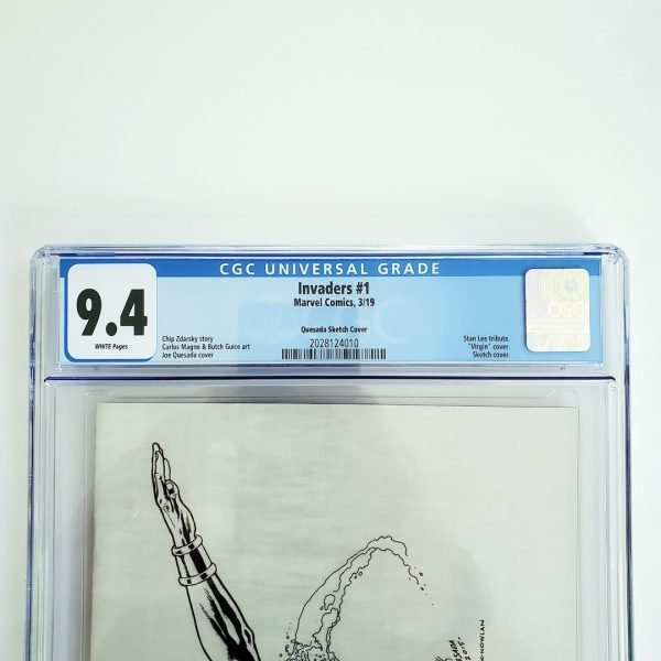Invaders #1 CGC 9.4 NM Quesada Sketch Variant Front Label