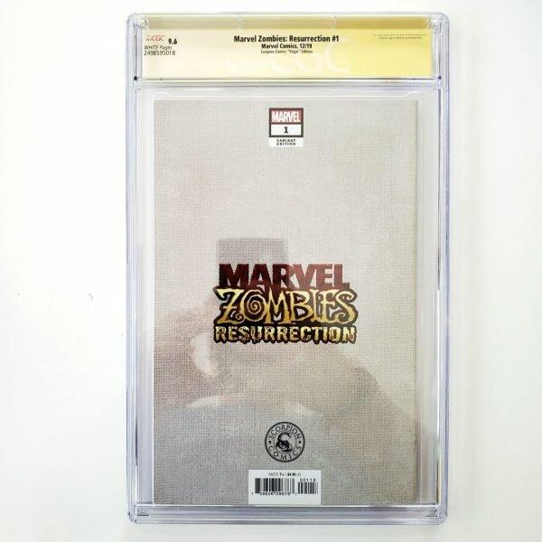 Marvel Zombies: Resurrection #1 CGC SS 9.6 NM+ Scorpion Comics Virgin Variant Back