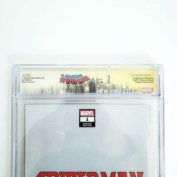 Spider-Man #1 CGC SS 9.6 NM+ Scorpion Comics Virgin Variant Back Label