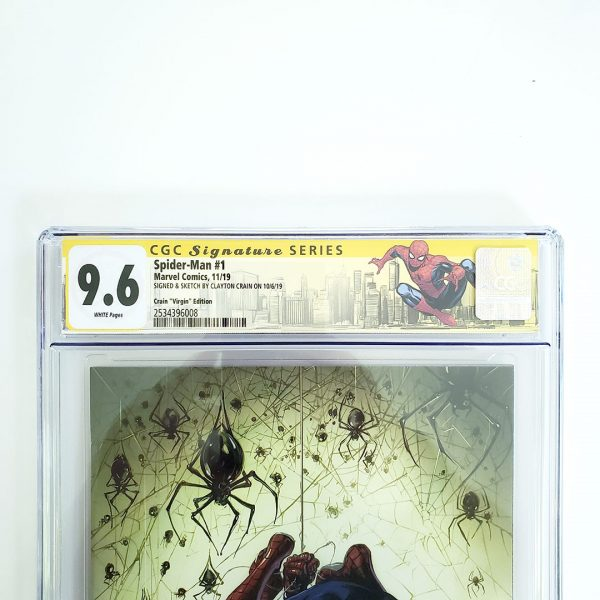 Spider-Man #1 CGC SS 9.6 NM+ Scorpion Comics Virgin Variant Front Label