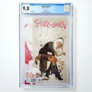 Spider-Gwen #1 CGC 9.8 NM/M Adam Hughes Variant Front