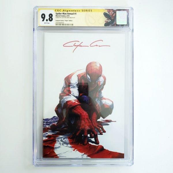 Spider-Man Annual #1 CGC SS 9.8 NM/M Scorpion Comics Virgin Variant Front