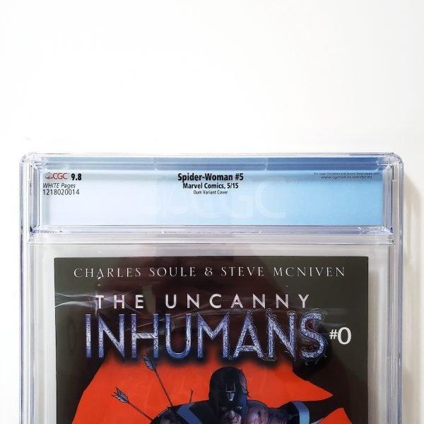 Spider-Woman #5 CGC 9.8 NM/M Oum Variant Back Label
