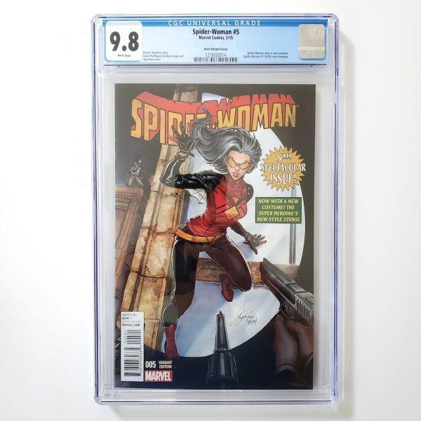 Spider-Woman #5 CGC 9.8 NM/M Oum Variant Front
