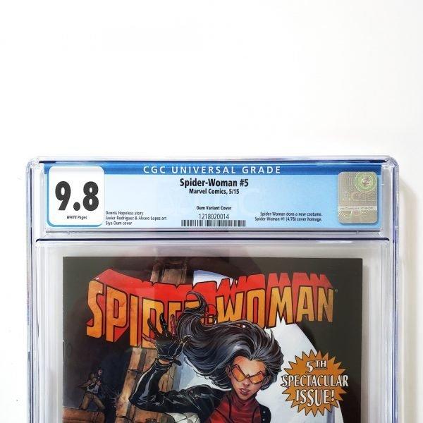 Spider-Woman #5 CGC 9.8 NM/M Oum Variant Front Label