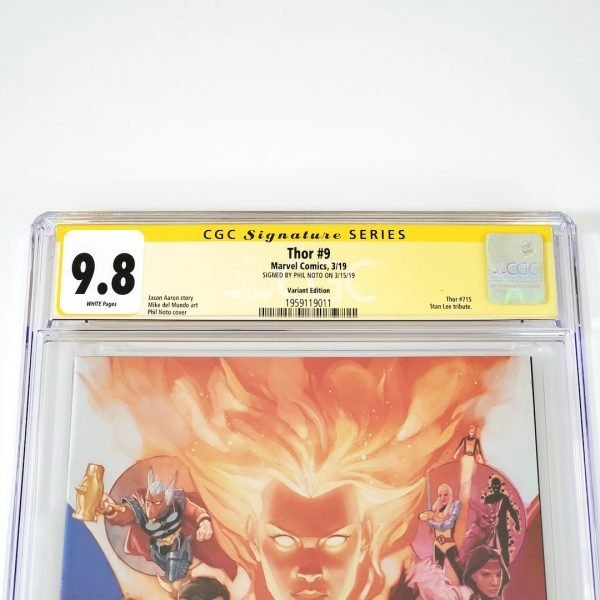 Thor (2018) #9 CGC SS 9.8 NM/M Marvel 80th Anniversary Variant Front Label