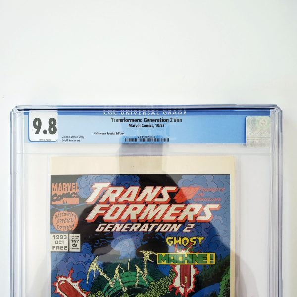 Transformers: Generation 2 #nn CGC 9.8 NM/M Halloween Special Edition Front Label