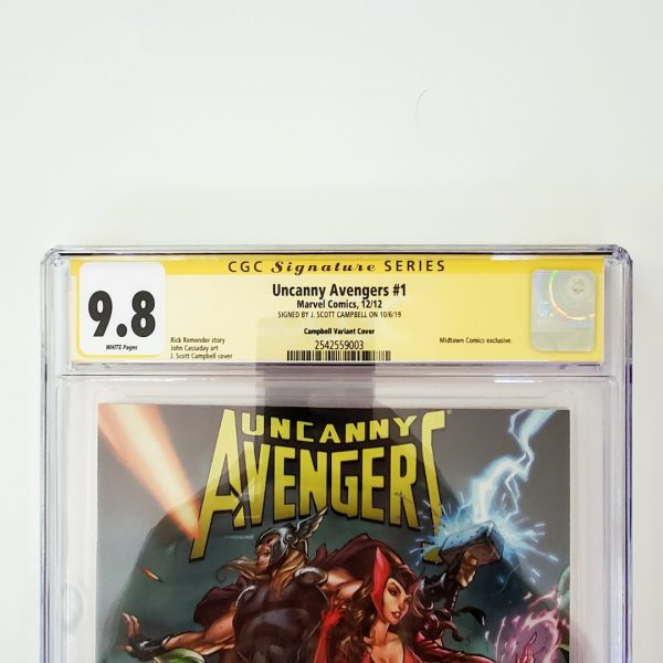 Uncanny Avengers #1 CGC SS 9.8 NM/M Campbell Variant Front Label