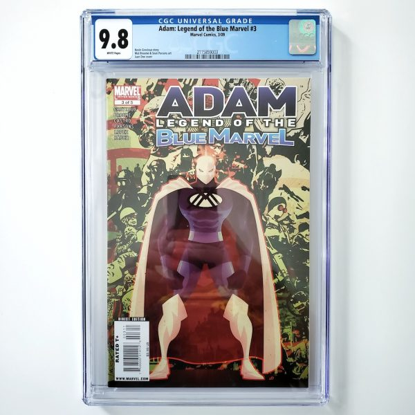 Adam: Legend of the Blue Marvel #3 CGC 9.8 NM/M Front