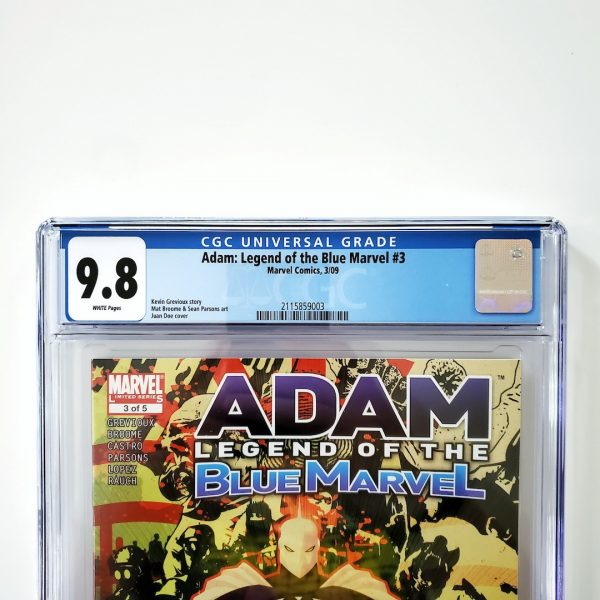 Adam: Legend of the Blue Marvel #3 CGC 9.8 NM/M Front Label