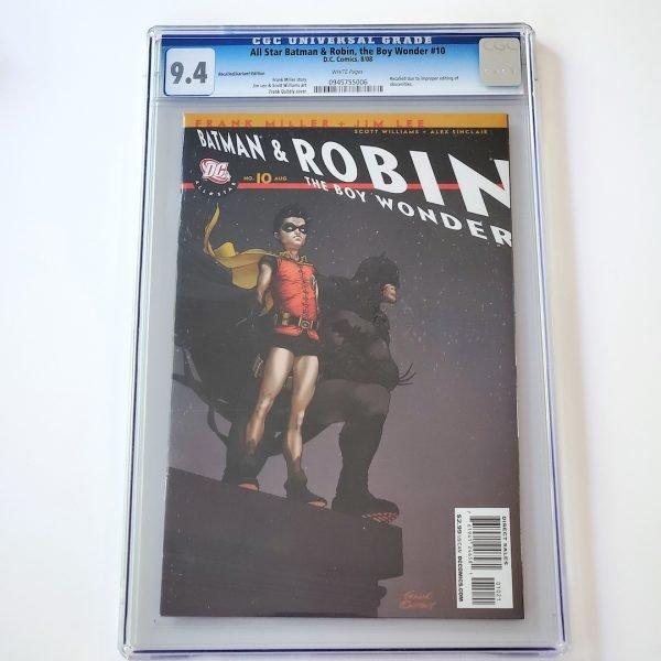 All Star Batman & Robin #10 CGC 9.4 NM Recalled Edition Front
