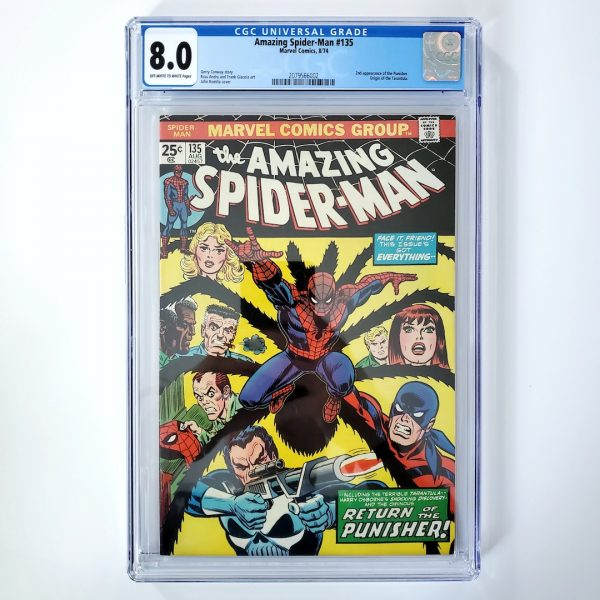 Amazing Spider-Man #135 CGC 8.0 VF Front