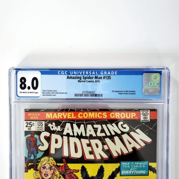 Amazing Spider-Man #135 CGC 8.0 VF Front Label