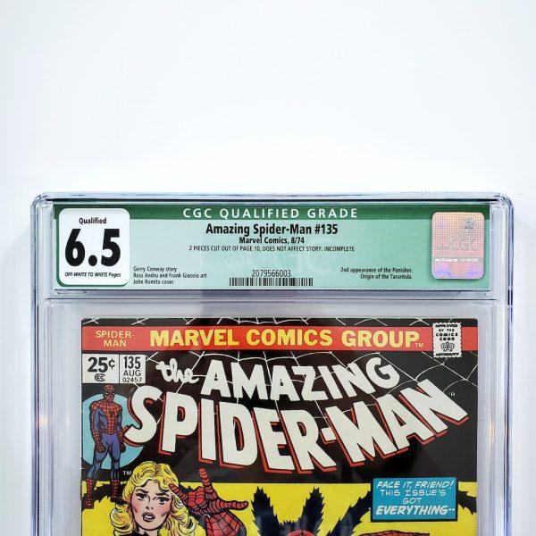 Amazing Spider-Man #135 CGC Q 6.5 FN+ Front Label
