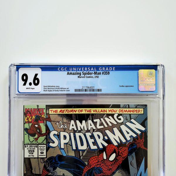 Amazing Spider-Man #359 CGC 9.6 NM+ Front Label
