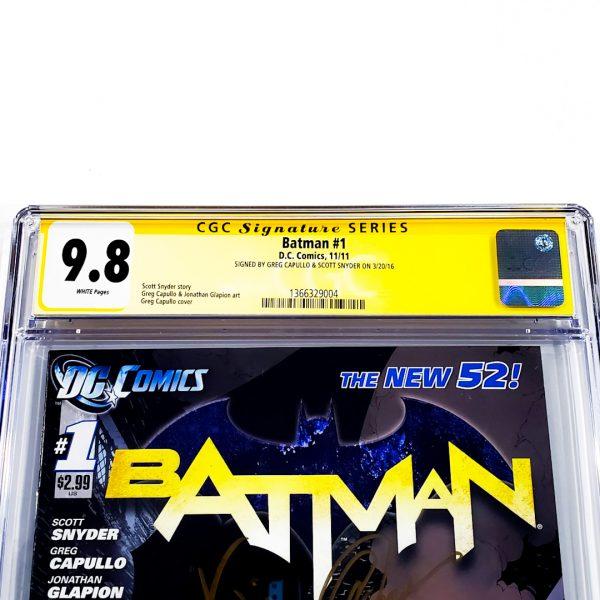 Batman (2011) #1 CGC SS 9.8 NM/M Front Label
