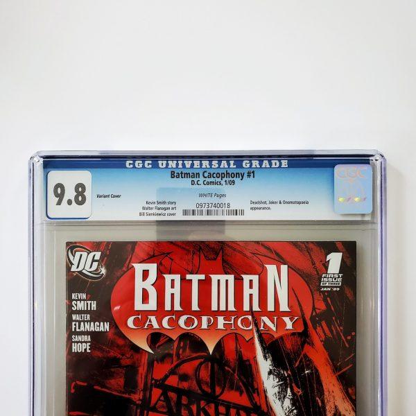Batman Cacophony #1 CGC 9.8 NM/M Variant Front Label