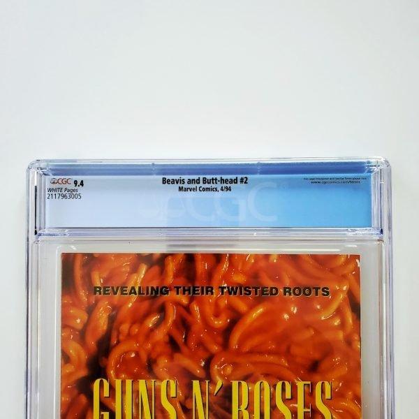 Beavis and Butt-head #2 CGC 9.4 NM Back Label