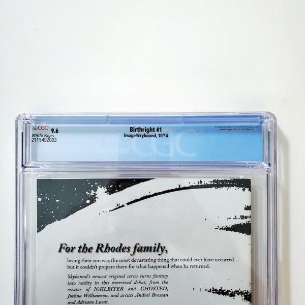 Birthright #1 CGC 9.6 NM+ Back Label
