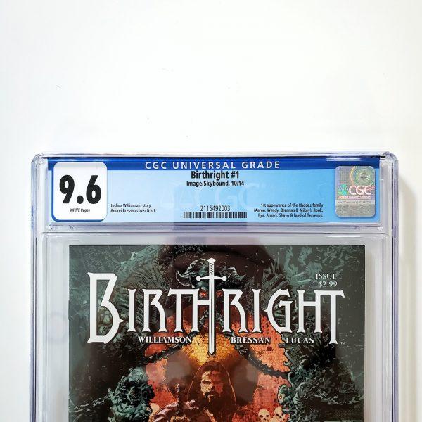 Birthright #1 CGC 9.6 NM+ Front Label